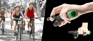 Trigger Bell a safer bike bell slider on flats with happy cyclists